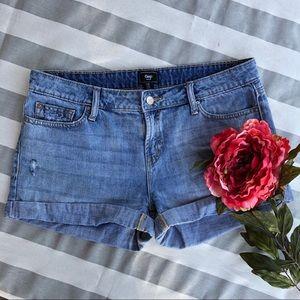 Gap high waist denim jean shorts size 10